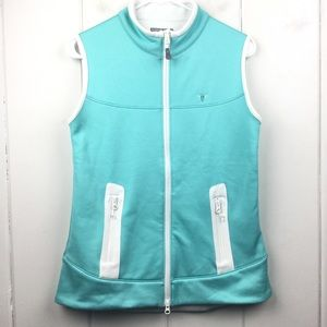 Peter Millar Teal Warmth Fleece Lined Vest - M